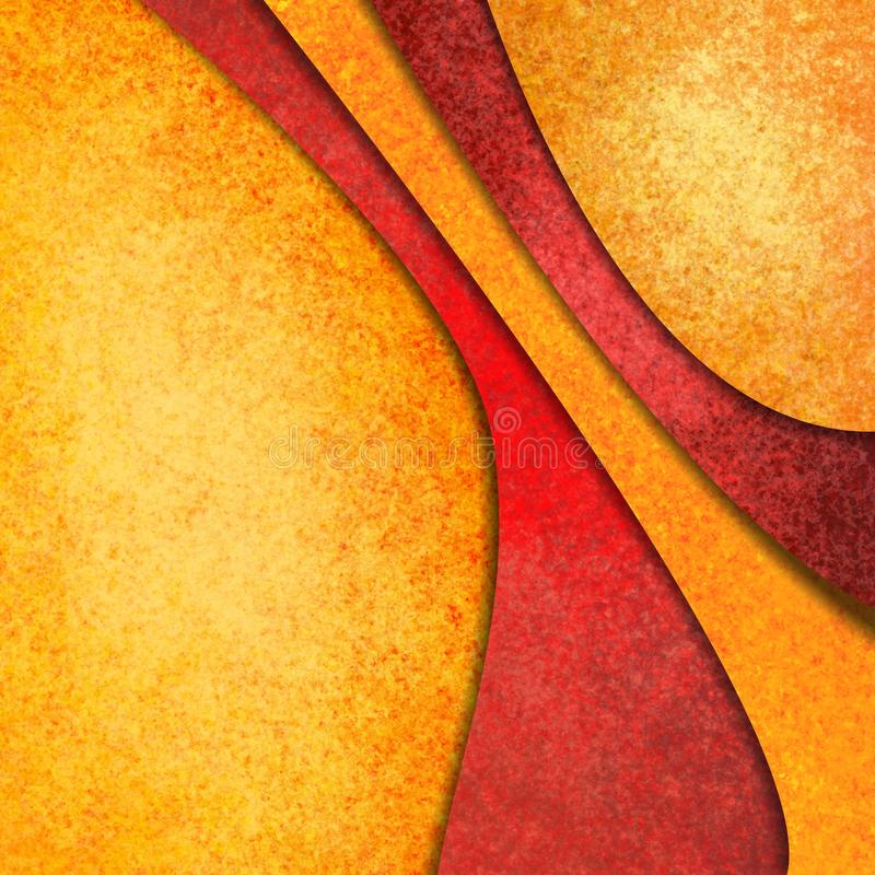 Orange gold and red abstract background with material design layers royalty free stock image
