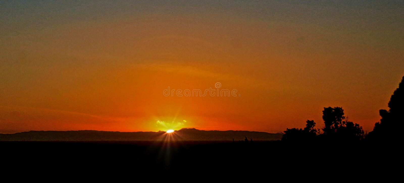 Newport Beach California sunset royalty free stock image