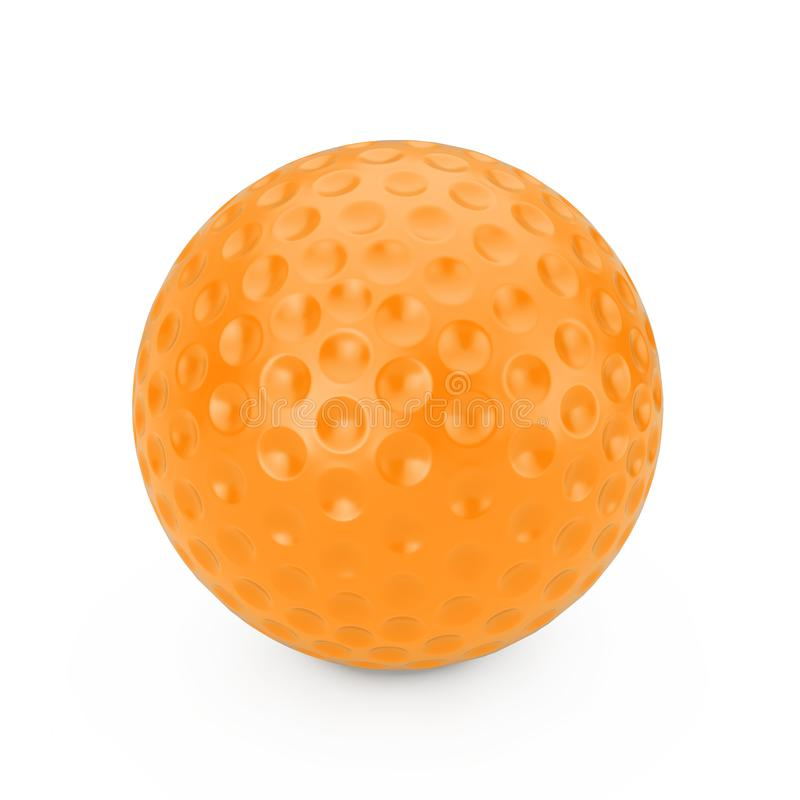 Orange Golf Ball. 3d Rendering. Orange Golf Ball on a white background 3d Rendering stock illustration