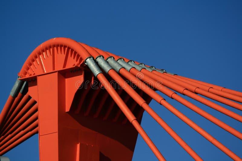 Download Orange Gondelstiel Der Brücke Stockfoto - Bild von organisation, hilfe: 9098282