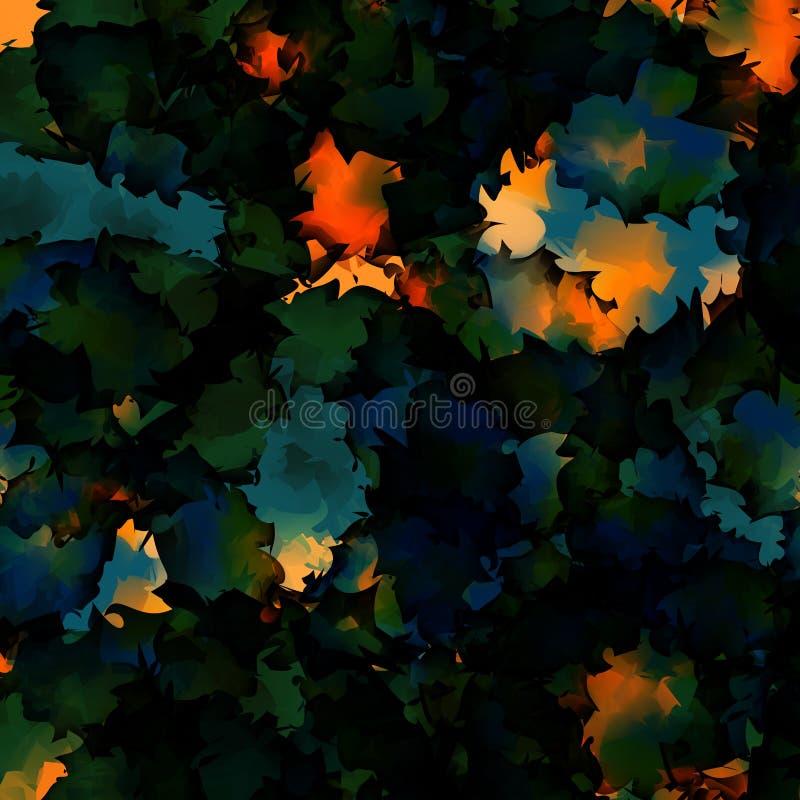 Orange grün-blauer Aquarellbeschaffenheitshintergrund vektor abbildung