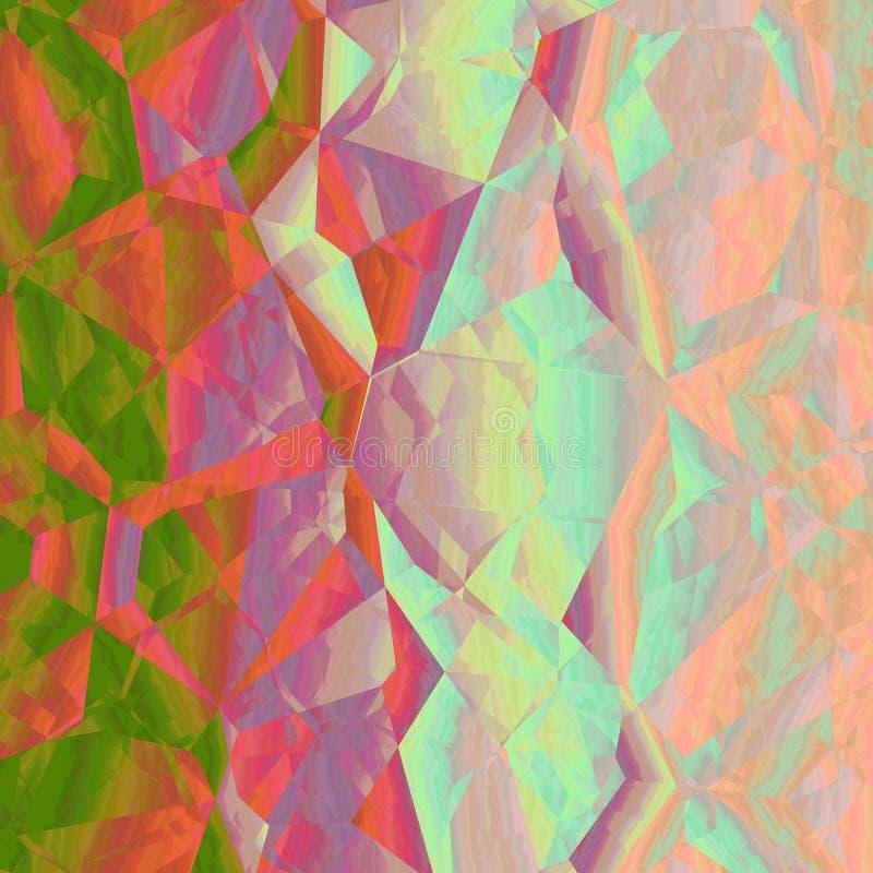 Orange grüne rosa abstrakte geometrische Hintergrunddesigngraphik lizenzfreie abbildung
