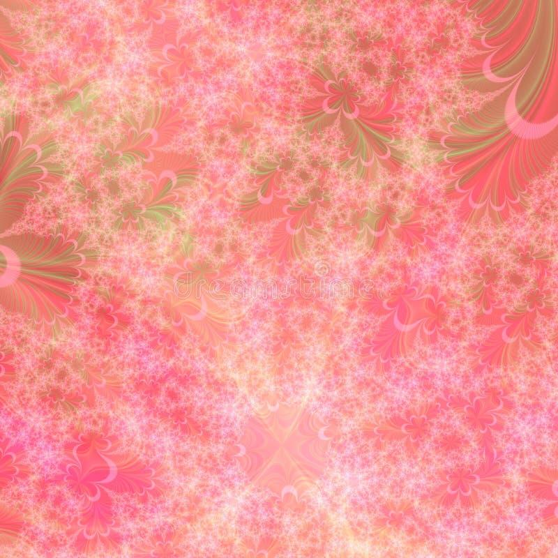 Orange, grünes und rosafarbenes abstraktes Hintergrund-Muster vektor abbildung