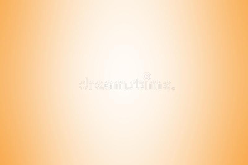 Orange gradient background color soft light, gradient orange soft bright wallpaper beautiful, orange picture gradient hue soft. The orange gradient background stock illustration