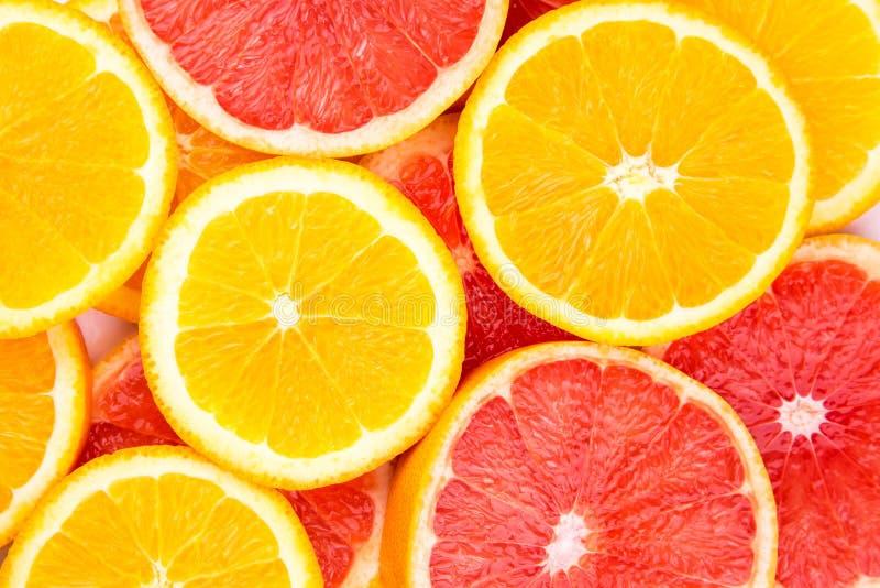 Orange and grapefruit background royalty free stock photography