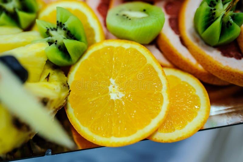 Orange and grapefruit rings stock images