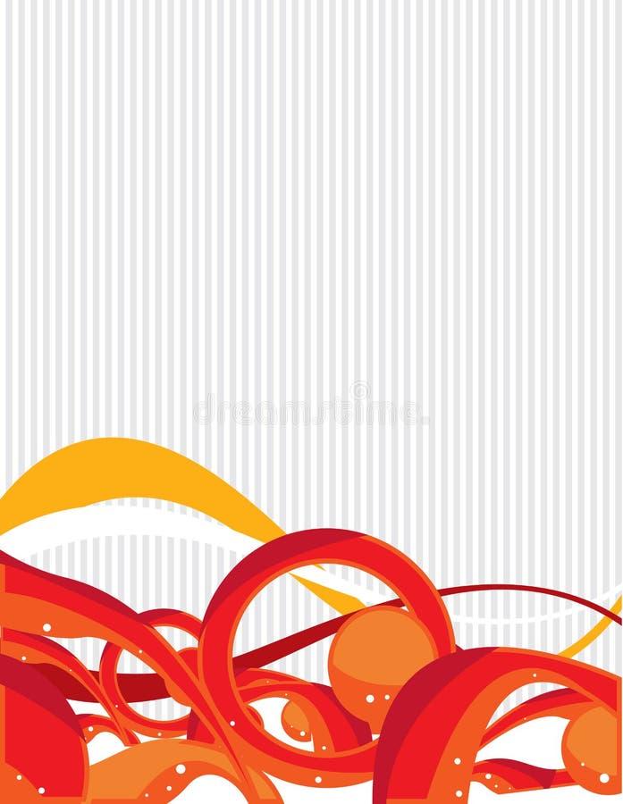 Orange gray background 1 royalty free illustration