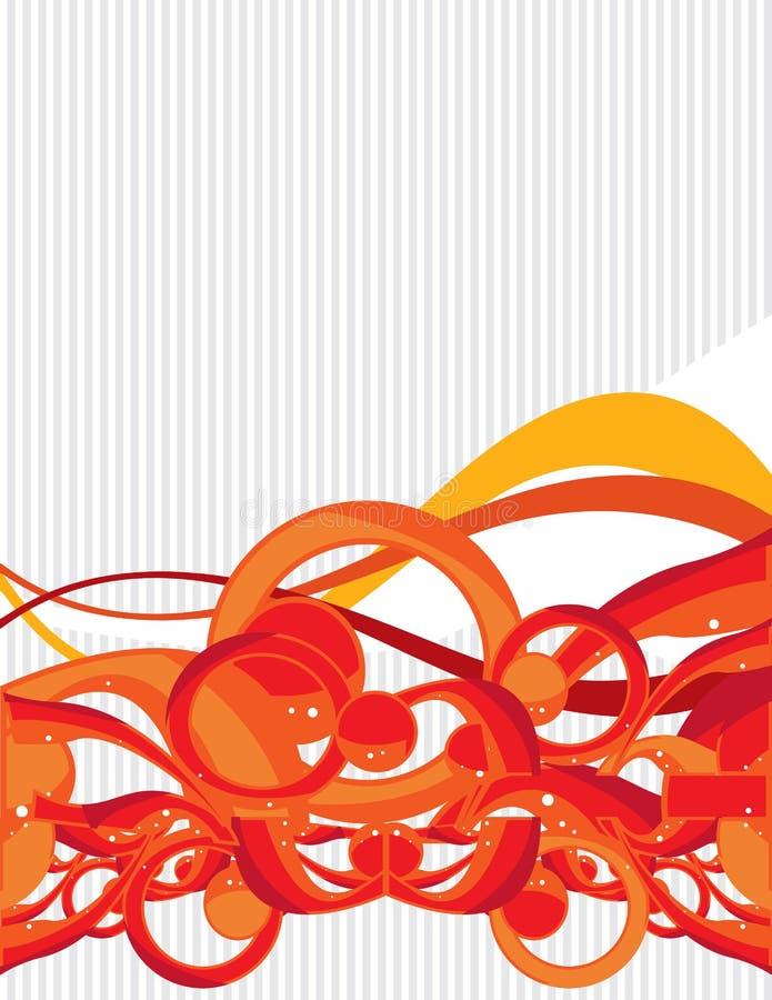 Orange gray background 3 royalty free illustration