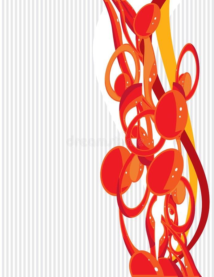 Orange gray background 4 vector illustration