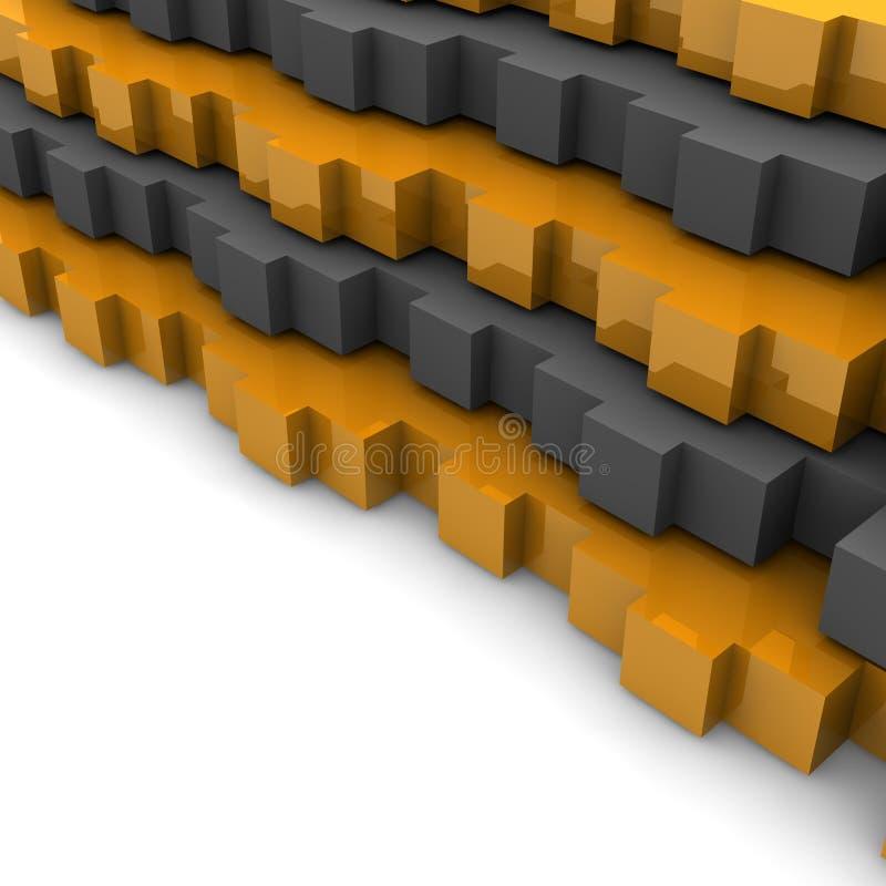 Download Orange and gray background stock illustration. Image of rendered - 9375329