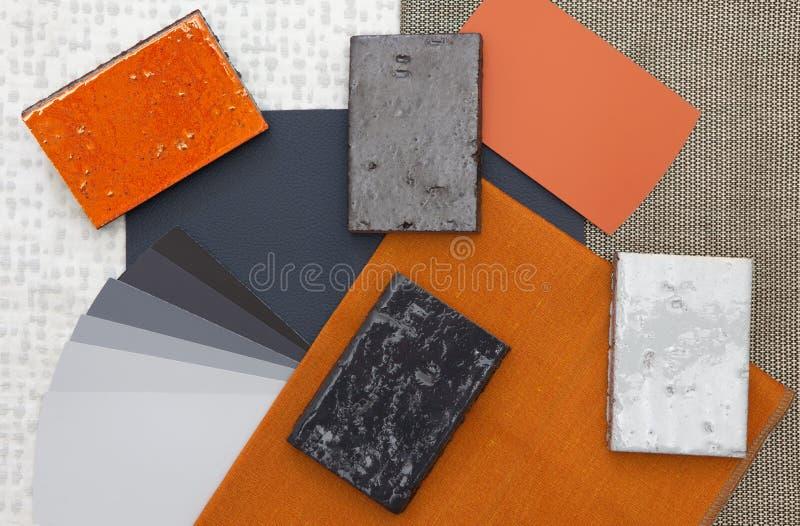 Orange and gray interior design stock photography