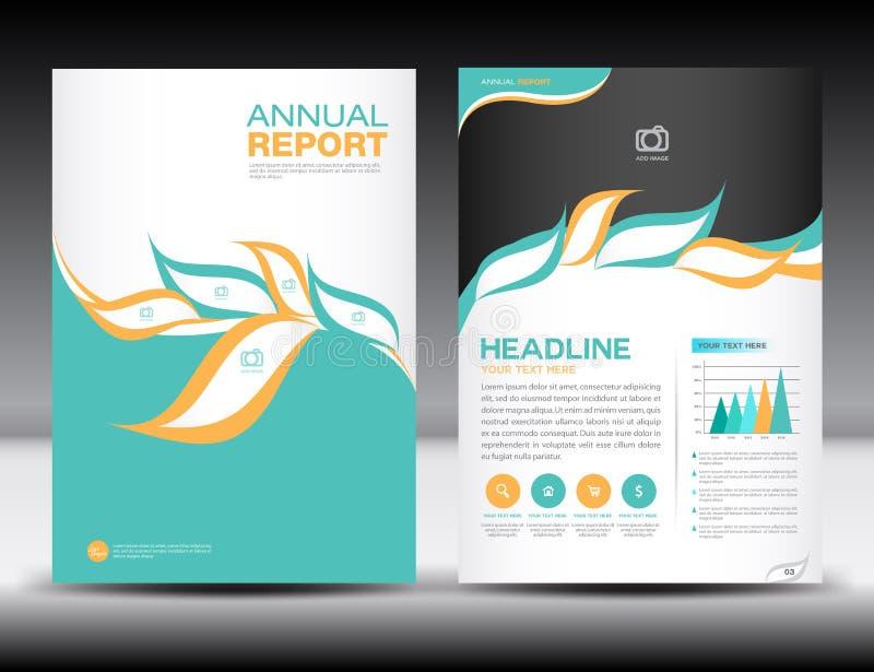 Orange green Annual report template,cover design,brochure fl yer. Info graphics elements,Layout template design,vector vector illustration