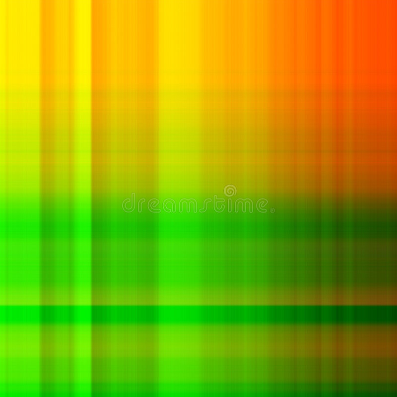 Orange and green check vector illustration