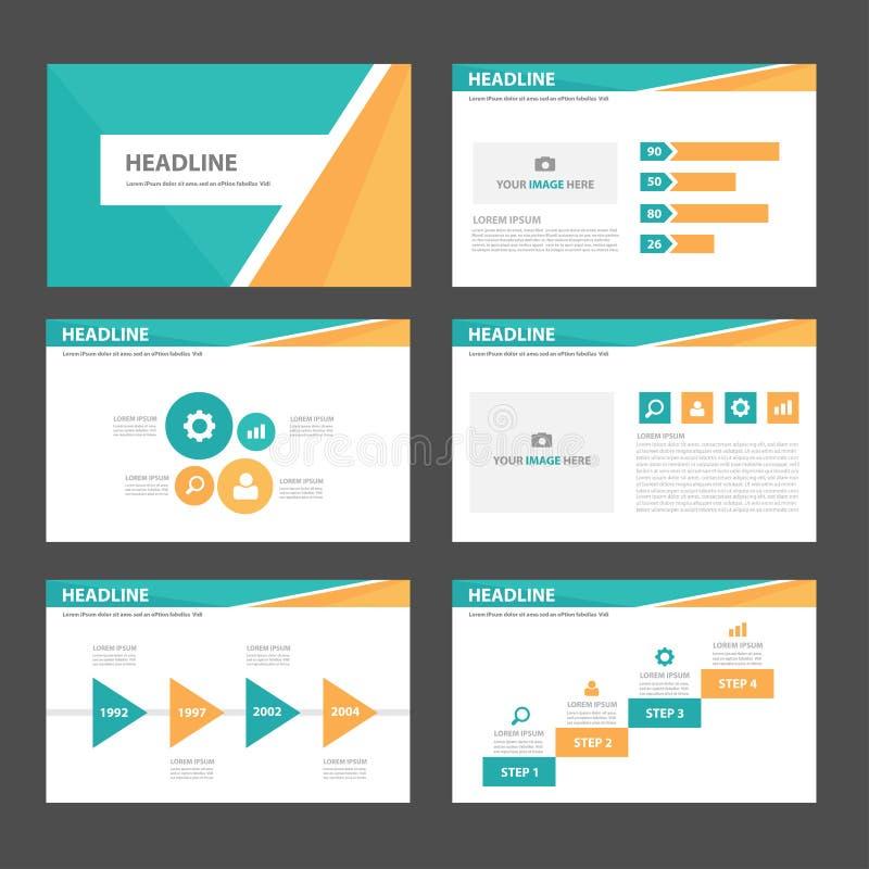 Orange And Green Multipurpose Presentation Brochure Flyer Leaflet ...