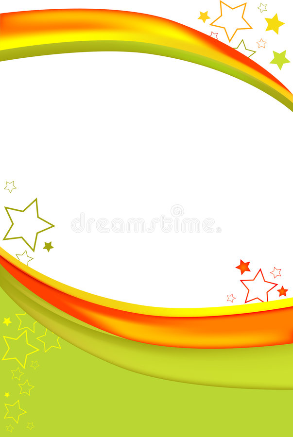 Download Orange Green Swoosh stock illustration. Image of white - 8818715