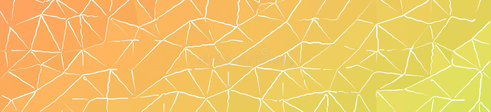 Orange and green with thin white strokes in banner shape background illustration. Orange and green with thin white strokes in banner shape background vector illustration
