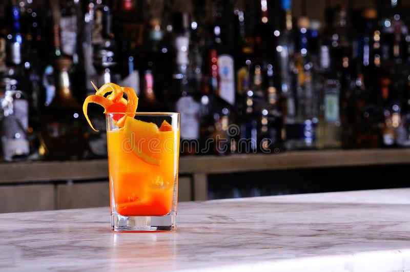 Orange and grenadine drink. With lots of ice royalty free stock image
