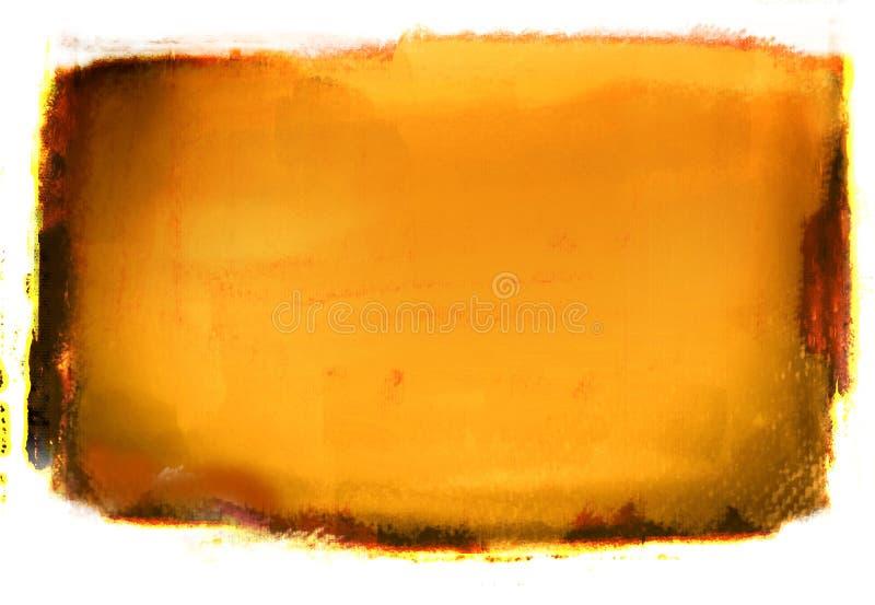 Orange Grunge Hintergrund lizenzfreie abbildung