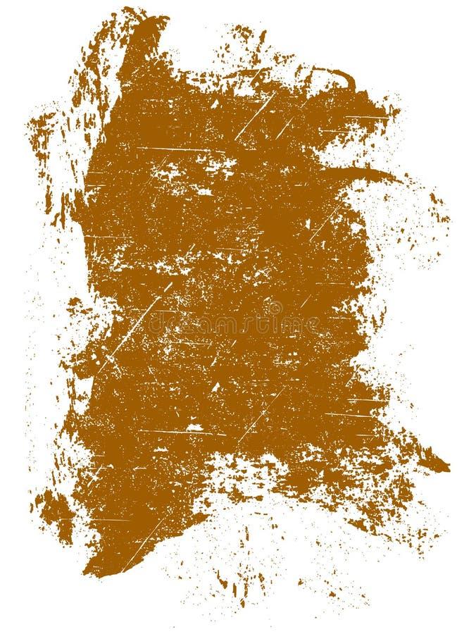 Orange Grunge Quadrat stock abbildung