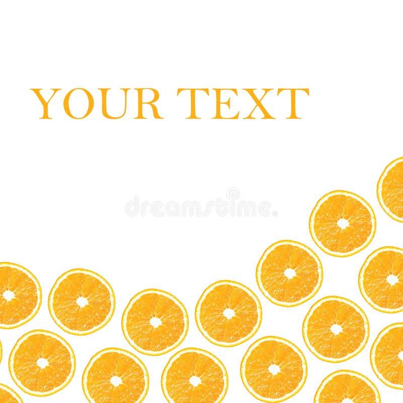 Orange Hälften auf einem weißen Hintergrund in Form von folny vektor abbildung