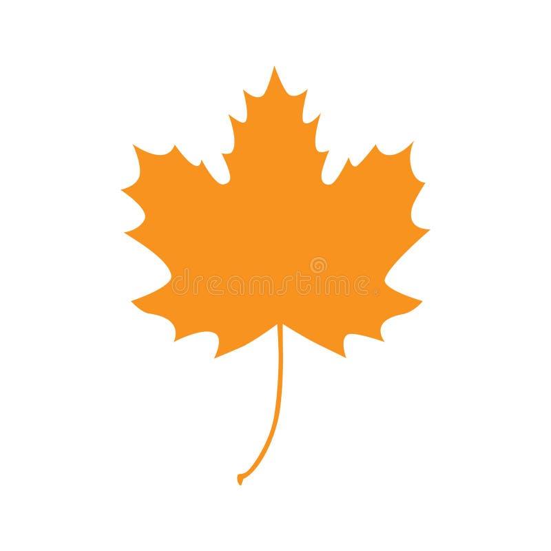 Orange höstlönnlövvektor vektor illustrationer