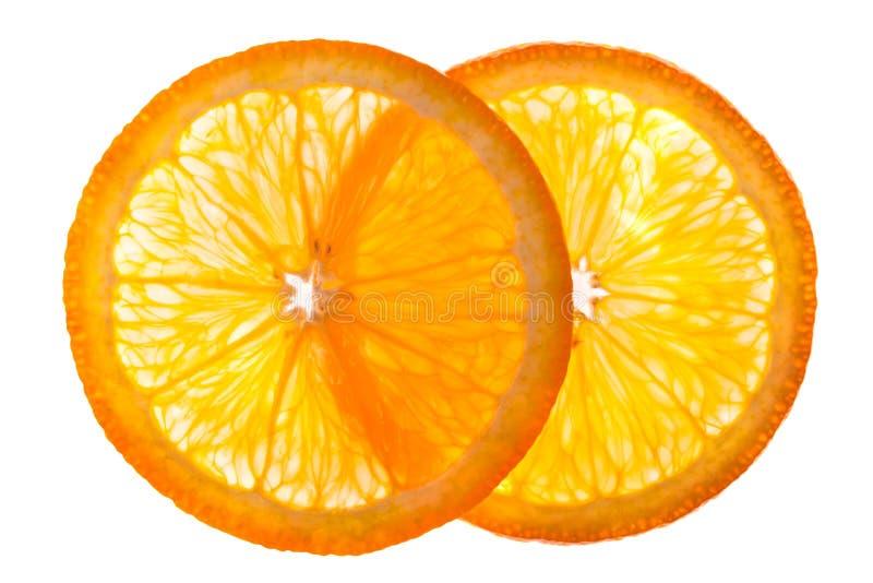Orange half isolated royalty free stock photo