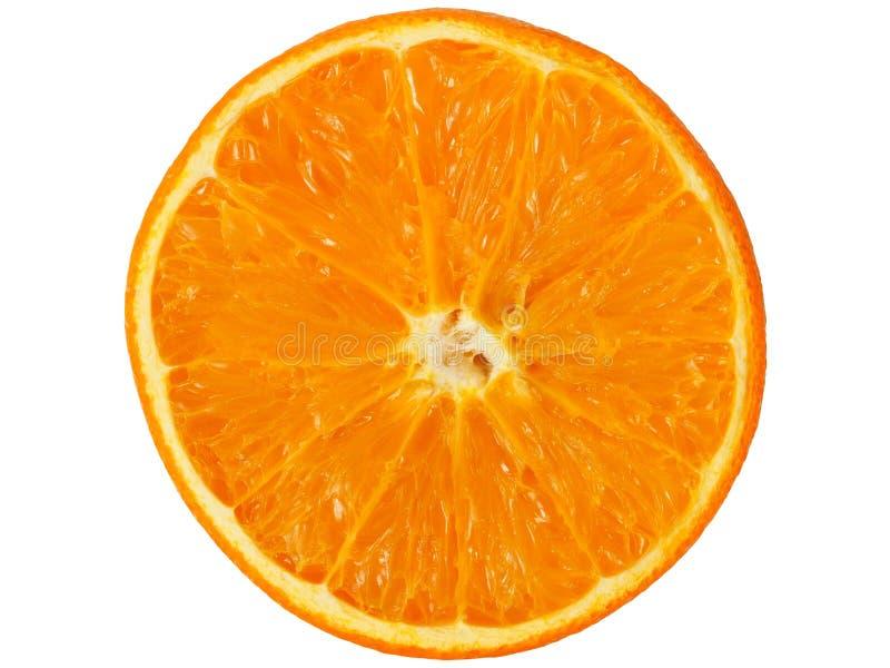 Orange half on white royalty free stock images
