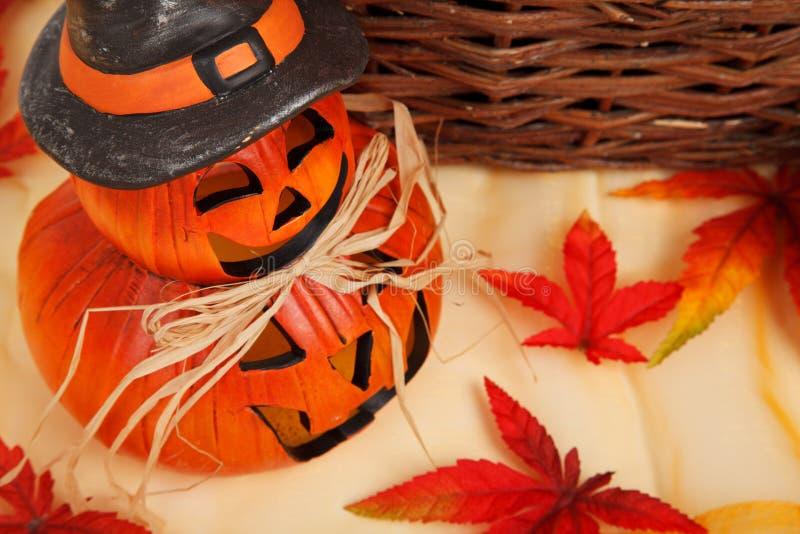 Orange halloween decoration royalty free stock photos