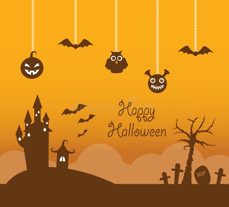 Orange Halloween-Hintergrund stock abbildung