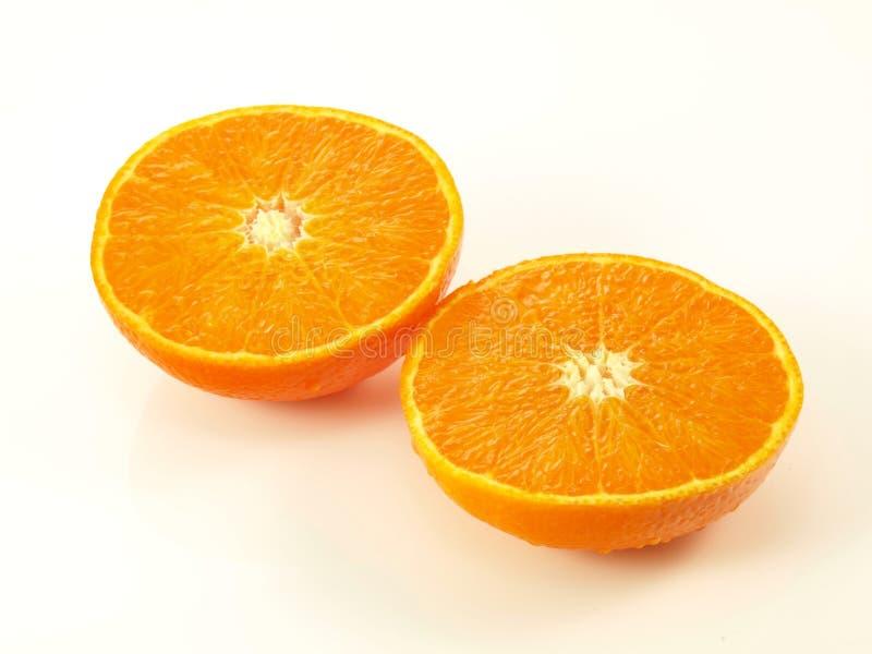 Orange halves, isolated stock image