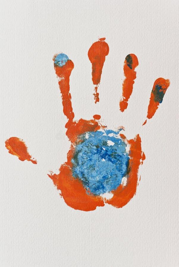 Download Orange Hand-print stock illustration. Illustration of fingers - 21156516
