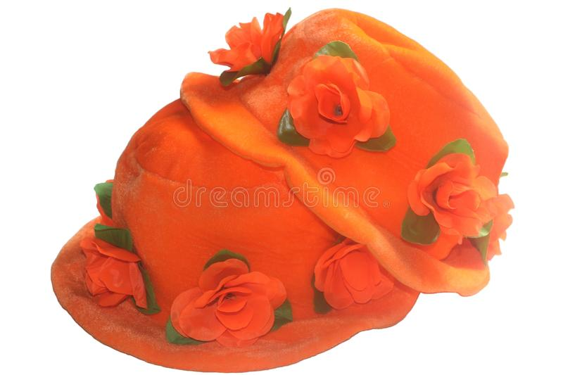 Orange hats for Kingsday (Koningsdag) and soccer events, Netherlands royalty free stock photography