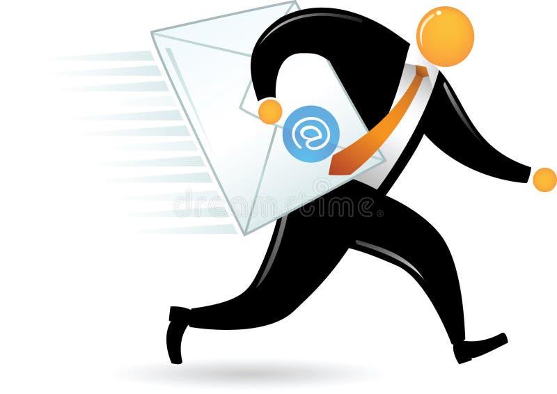 Orange Hauptmann, der eMail liefert lizenzfreie abbildung
