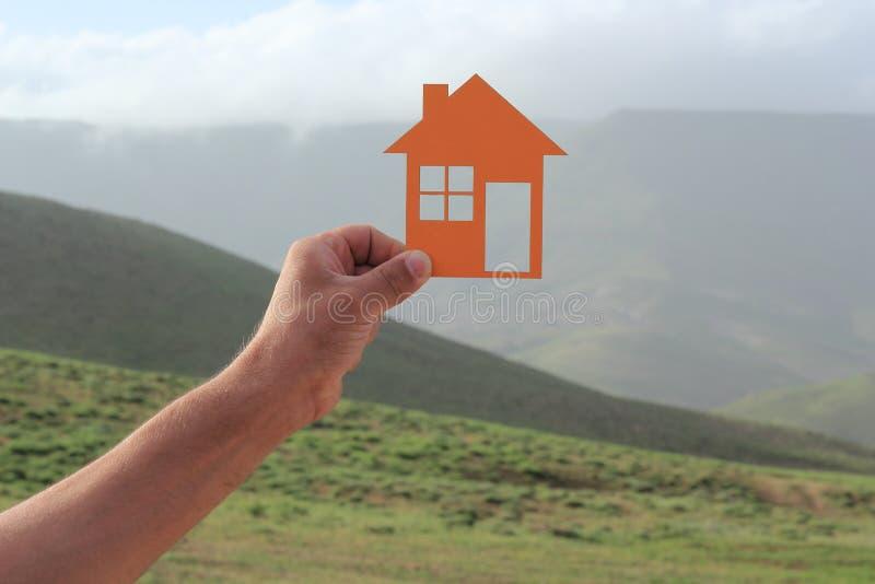 Orange Haus stockbilder