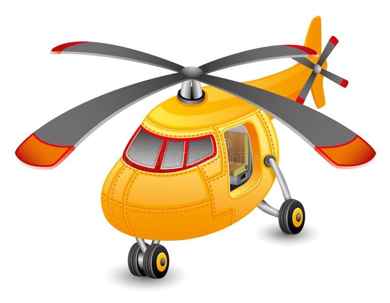 Orange helicopter. royalty free illustration