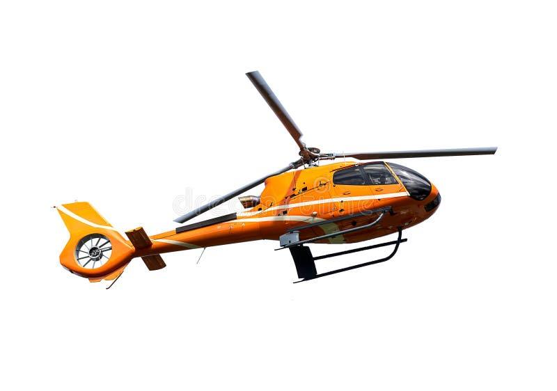 Orange helikopter royaltyfri bild