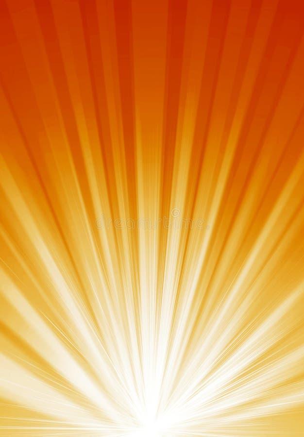 Orange helle Leuchte vektor abbildung