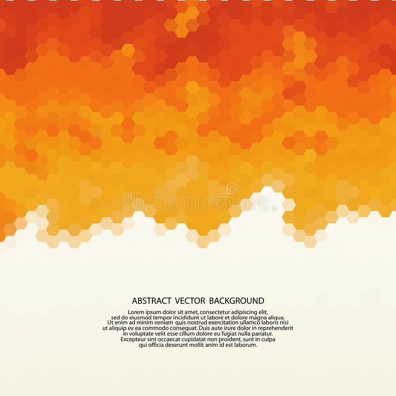 Orange hexagon background. polygonal style. template for presentation. layout for advertising. mosaic background. eps 10. Orange hexagon background. polygonal stock illustration