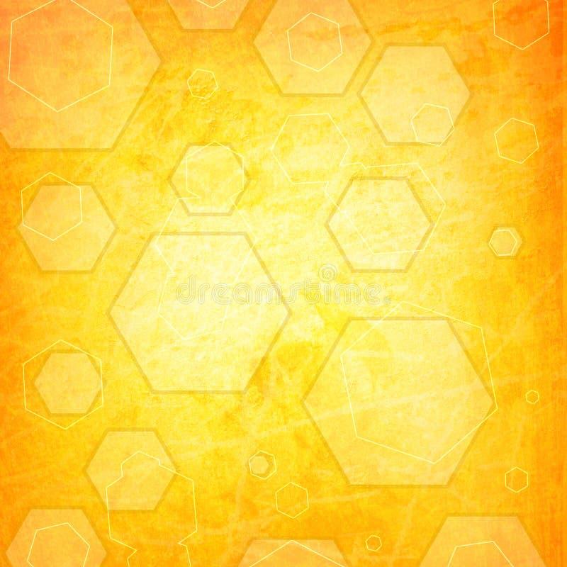 Download Orange Hexagon On A Grunge Royalty Free Stock Image - Image: 21579856