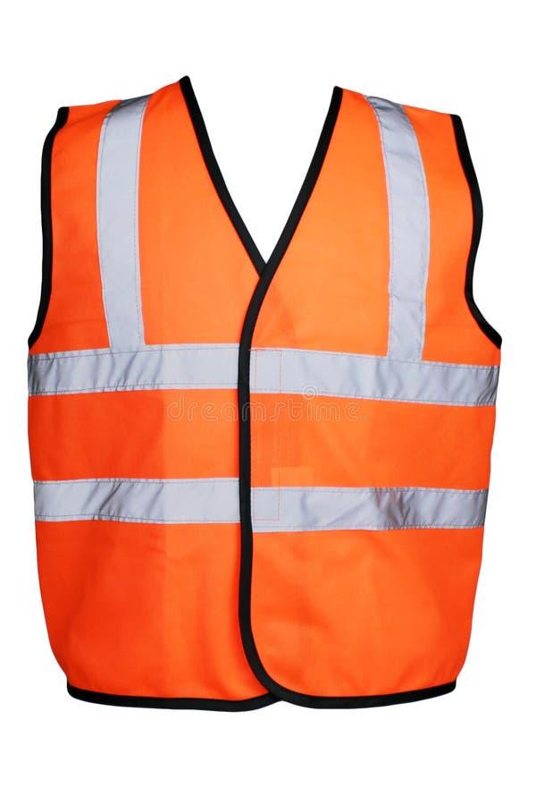 Orange Hi-Viz Vest. Product picture for construction workwear safety clothing stock photography