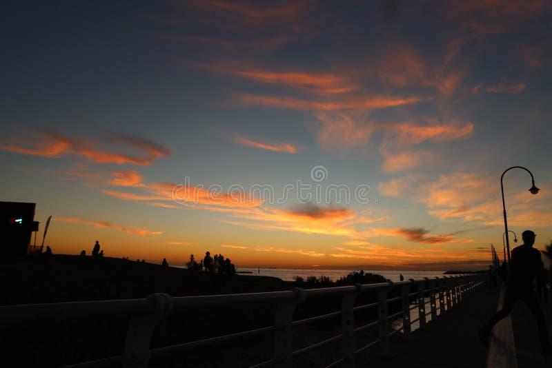 Orange Himmel lizenzfreie stockfotos