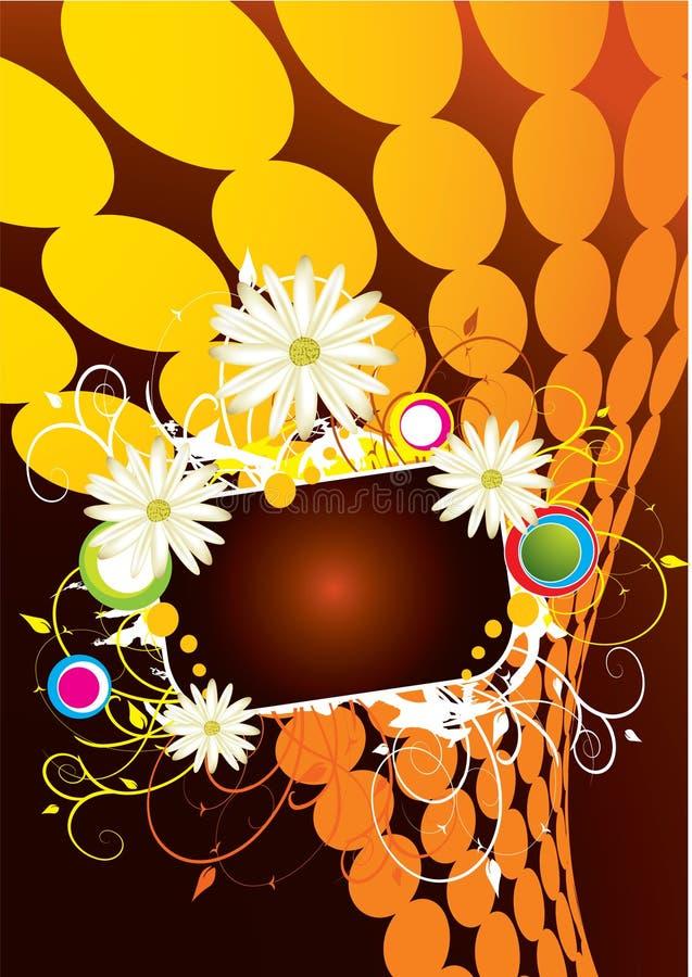 Orange Hintergrund lizenzfreie abbildung