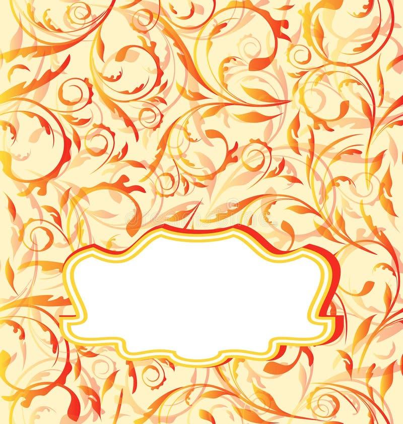 Orange Hintergrund des Herbstes, nahtlose Blumenbeschaffenheit stock abbildung