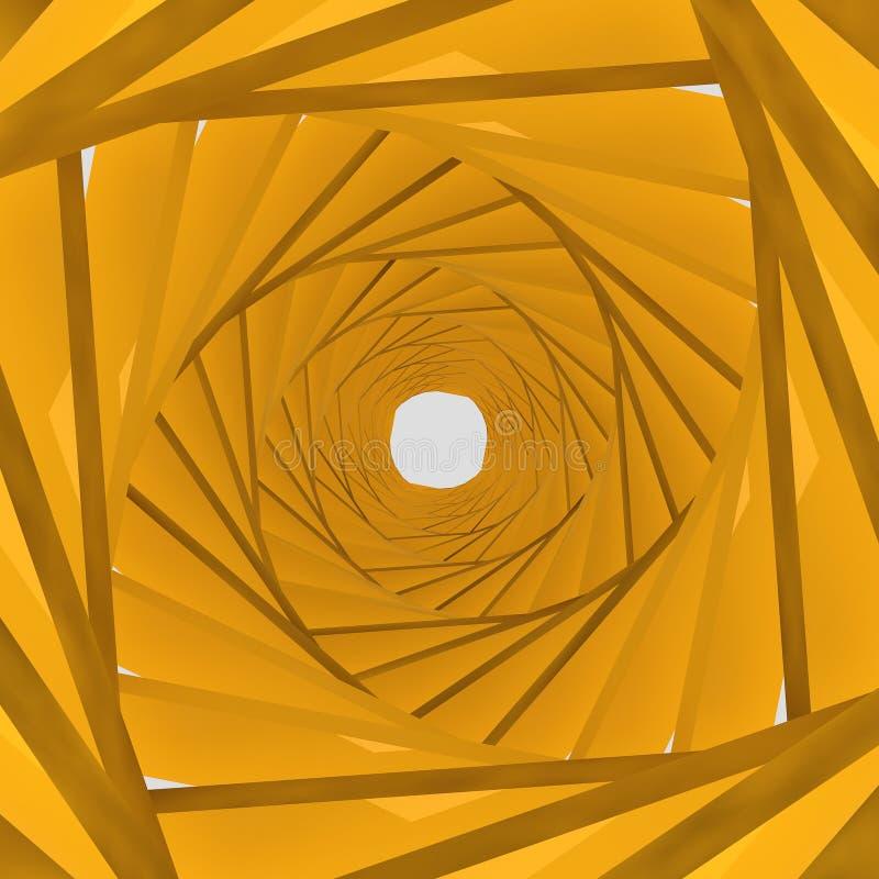 Orange Hintergrund des Hintergrundes 3d lizenzfreie abbildung
