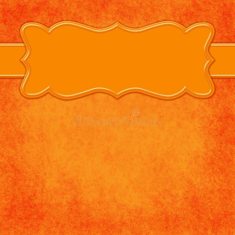 Orange Hintergrund mit Titelfahne stock abbildung