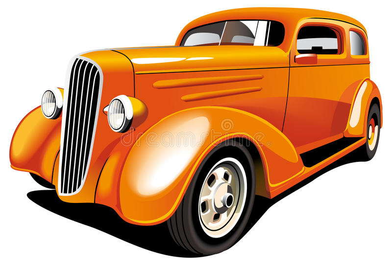 Download Orange Hot Rod Royalty Free Stock Photo - Image: 15550015