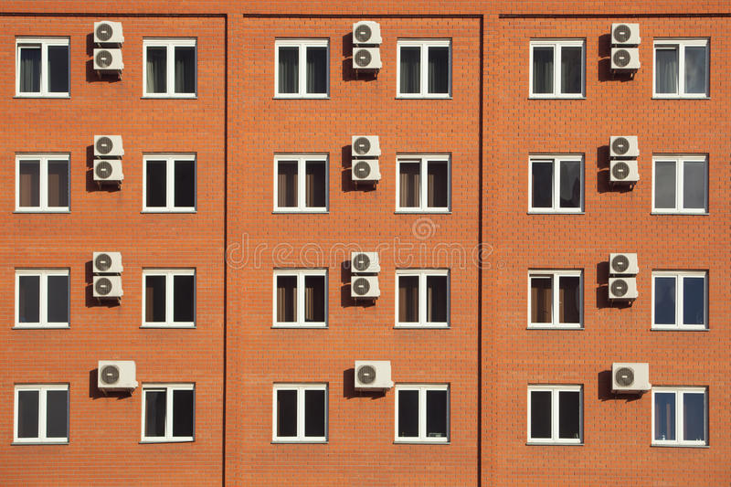 Orange hotel in Russia royalty free stock image
