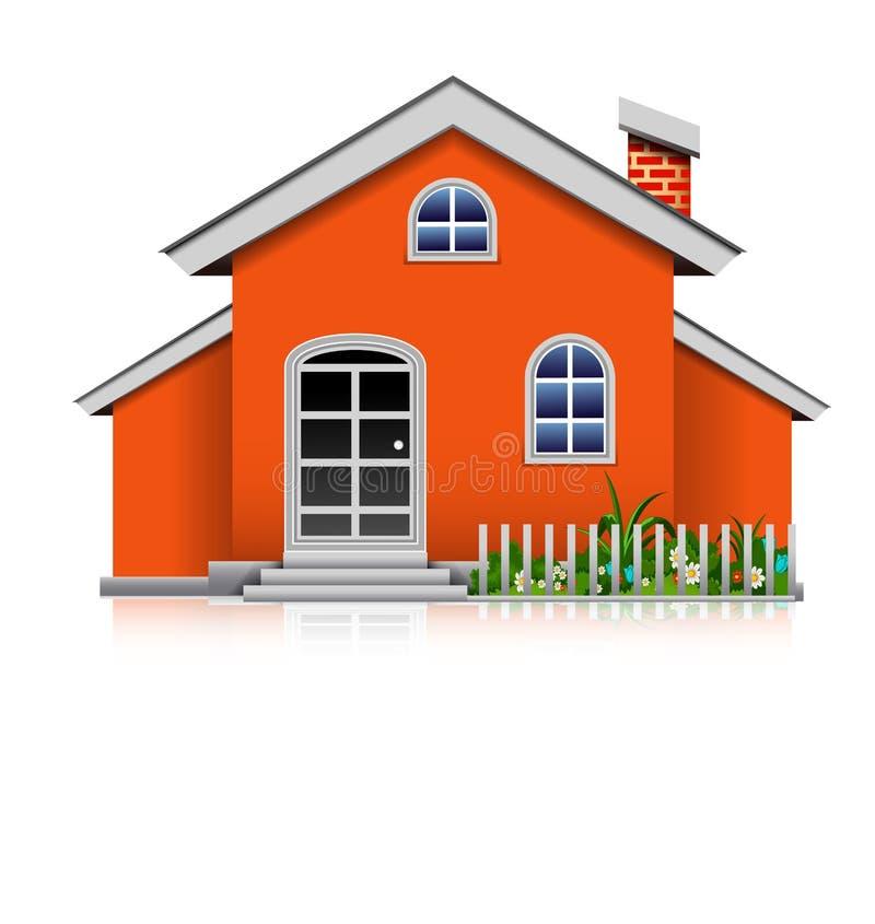 Orange house royalty free illustration