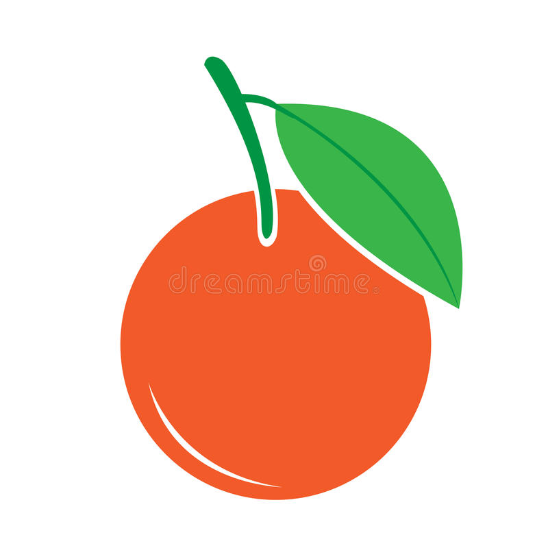 Orange icon vector illustration