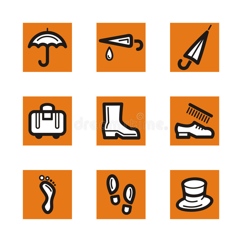 Download Orange icon series stock illustration. Illustration of steps - 2461908